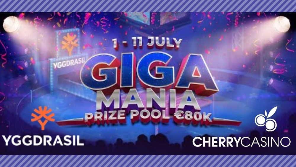 【ラッキーチカ報告】チェリーカジノでYggdrasilのGIGAMANIAキャンペーン開催!総額$80,000・一等$10,000獲得チャンス